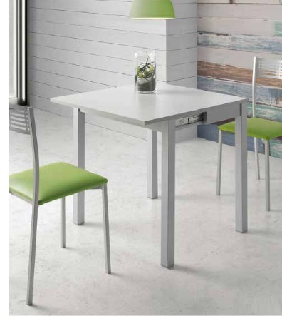 Mesa de cocina extensible tipo libro MDF blanco Dijon PI-513C - www ...