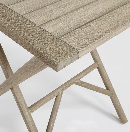 Mesa madera plegable patina gris envejecido 70x70 www for Mesa 70x70 madera