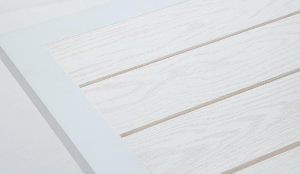 Conjunto de terraza y jardin aluminio lamas blanco bengasi for Conjuntos de jardin en aluminio