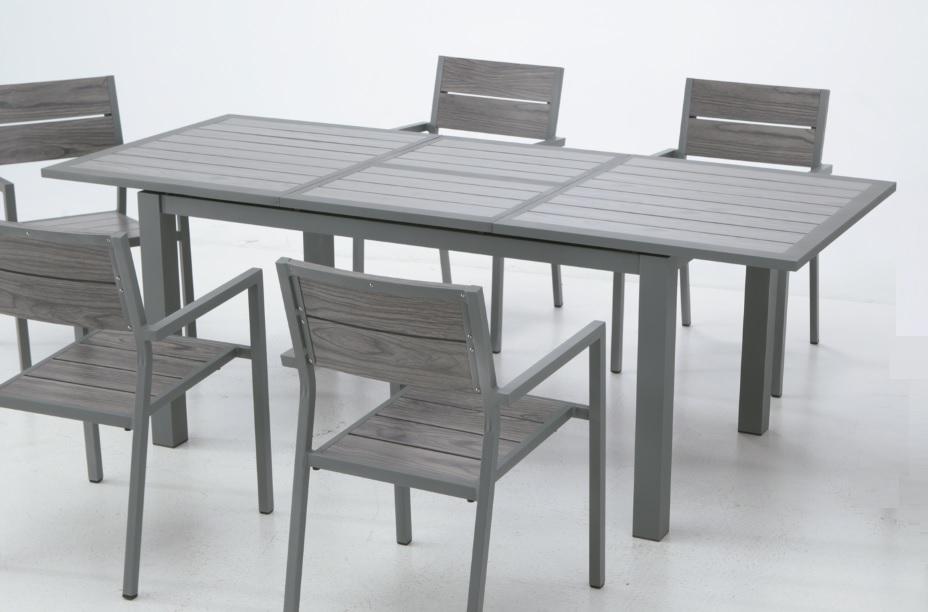 Mesa de terraza y jardin extensible aluminio lamas suez for Mesa jardin aluminio