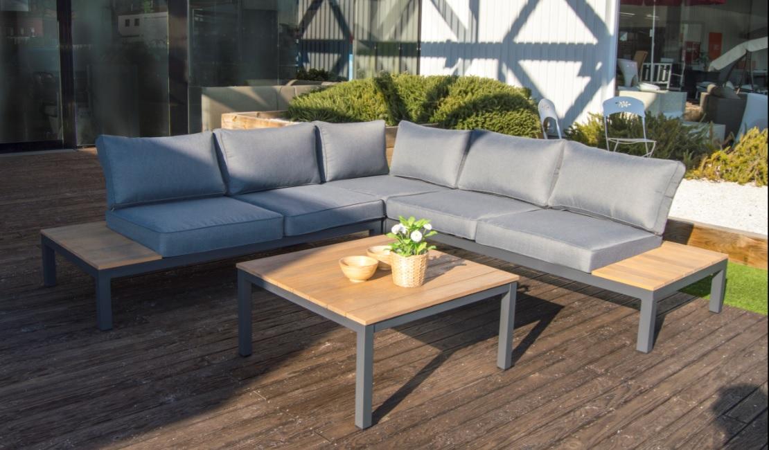 Encantador eucalipto madera muebles de exterior ornamento for Sofa exterior plegable