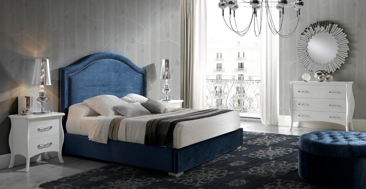 Cabezal clasico tapizado tachuelas allegro dugar home - Cabezal de cama tapizado ...