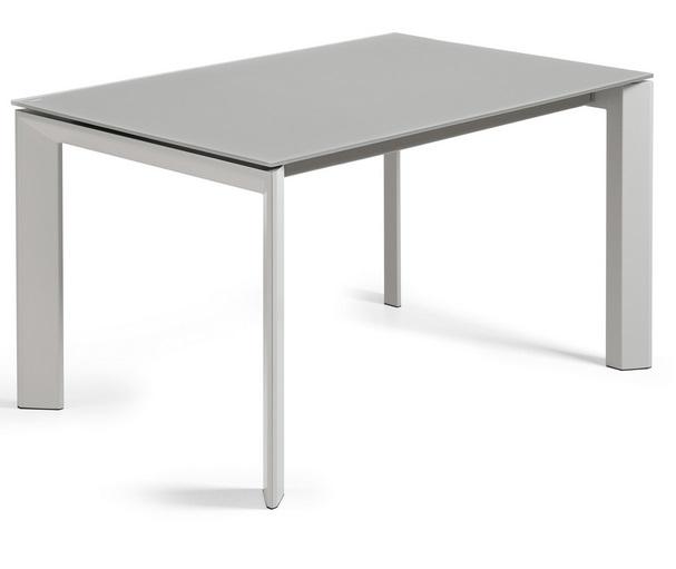 Mesa de comedor extensible lam cristal gris 140 200x90 cm for Mesa comedor cristal 200 cm