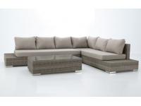 Set lounge sofa esquinero rattan marron Tissa