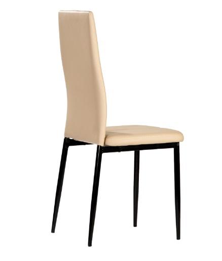 4 uds silla de cocina polipiel capuccino marle www for Sillas cocina polipiel