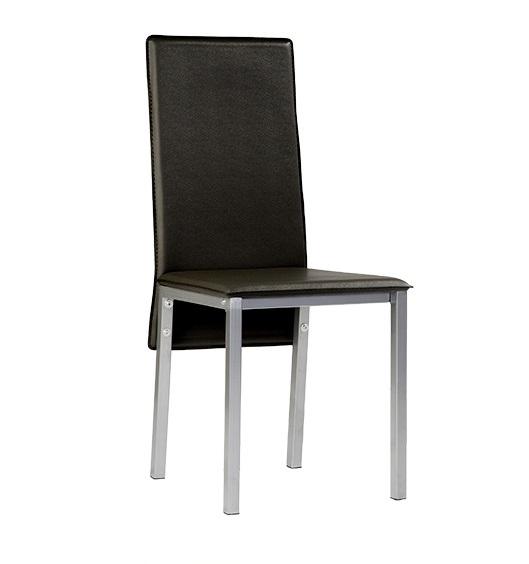 4 uds silla de cocina polipiel negro suzy for Sillas cocina polipiel